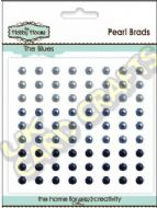 4mm The Blues Self Adhesive Pearls x 72
